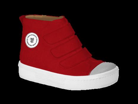 P1655 Scarlet Suede Velcro