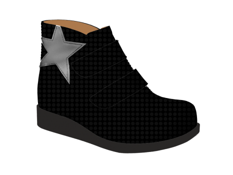 S1502 Black Fantasy Patent Velcro (Alternative)