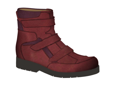 R1654/2 Ruby Wax Leather Velcro