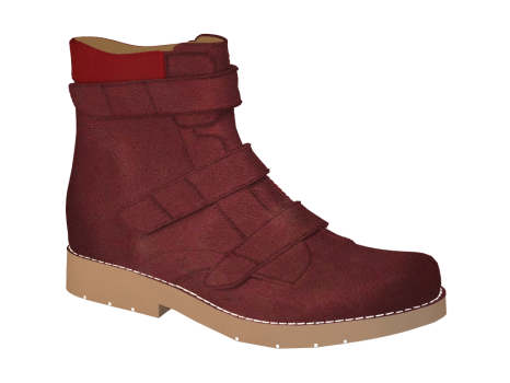 R1654/3 Ruby Wax Leather Velcro