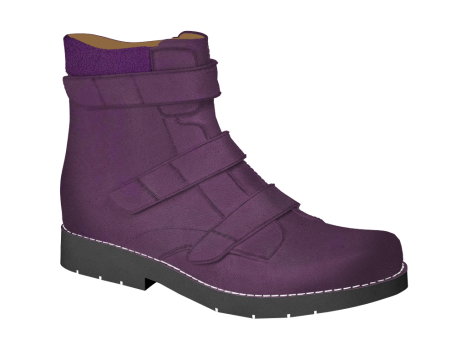 L122 Violet Leather Velcro