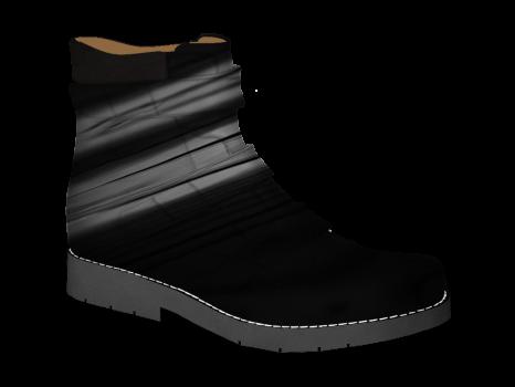 S602 Black Patent Velcro