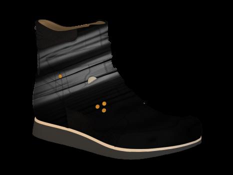 S602/4 Black Patent Velcro