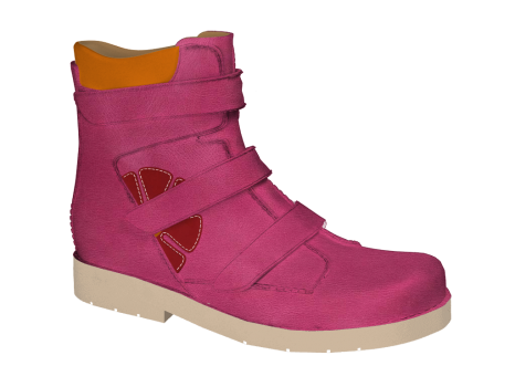 N1630/R577 Fuchsia Wax Leather Velcro