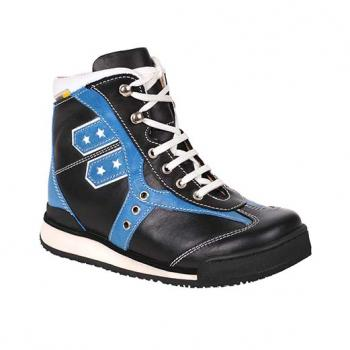Popey  - R502/3 Black/Blue Aniline Combi Lace