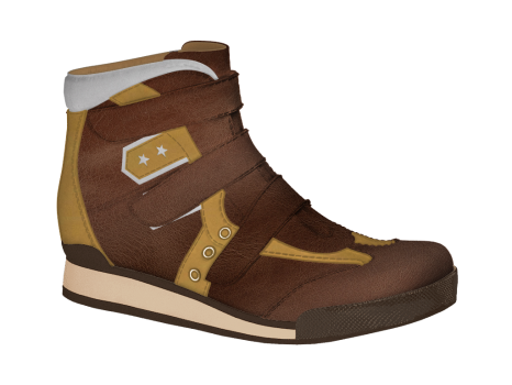 R555/2 Caramel Wax Leather Combi Velcro
