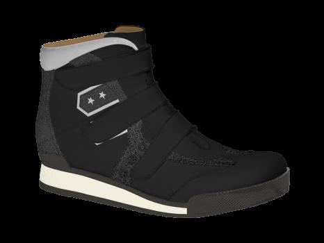 R502/2 Black Aniline Combi Velcro