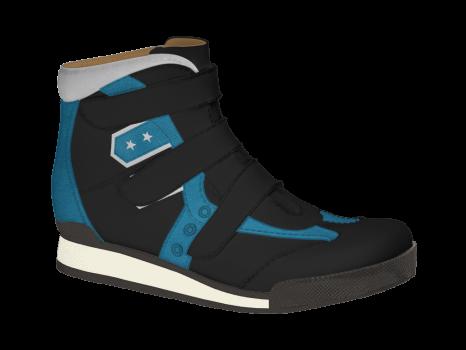 R502/3 Black/Blue Aniline Combi Velcro