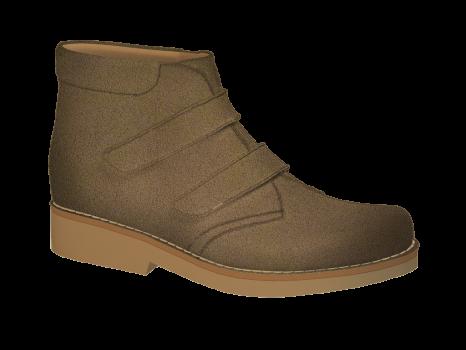 P1668/1 Tawny Split Suede Velcro
