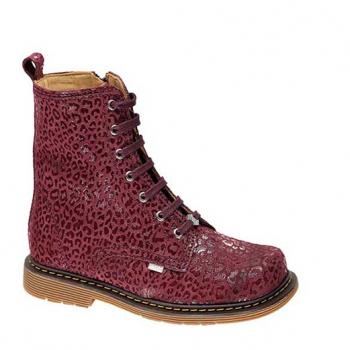 Robin  - Y1614/1 Burgundy Calvin Leather Lace