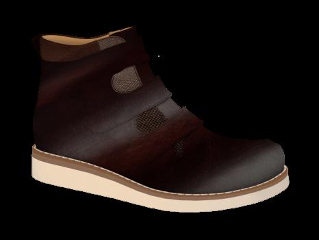 R574 Brown Glossy Aniline Velcro