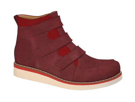 R1654 Ruby Wax Leather Velcro