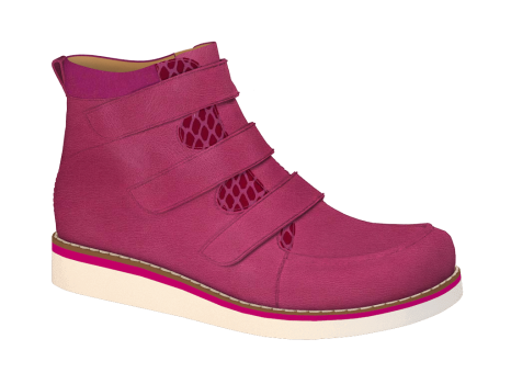 R577 Fuchsia Wax Leather Velcro
