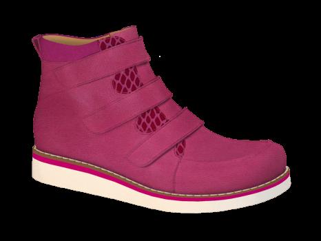 R577 Fuchsia Wax Leather Velcro