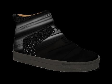 S602/2 Black Patent Combi Velcro