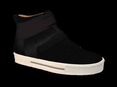 N302 Black Nubuck Combi Velcro