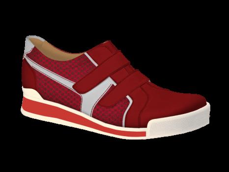 N1627 Red Nubuck Combi Velcro