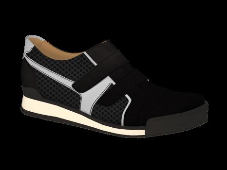 N302/1 Black Nubuck Combi Velcro