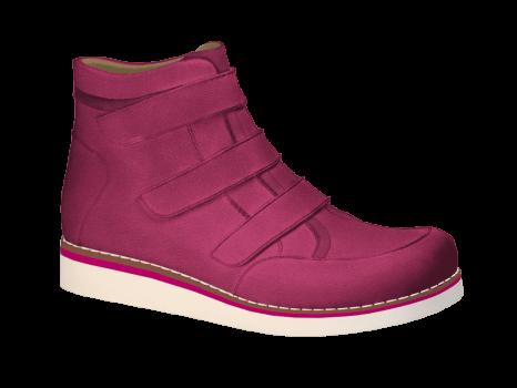 R577/1 Fuchsia Wax Leather Velcro