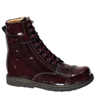 Stevie  - F1605 Burgundy Polished Leather Lace