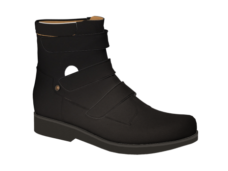 WP592/1 Black Waterproof Leather Velcro
