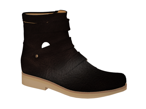 WP594/1 Brown Waterproof Leather Velcro