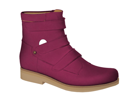 WP595 Fuchsia Waterproof Leather Velcro
