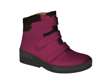 WP595/1 Fuchsia Waterproof Leather Velcro