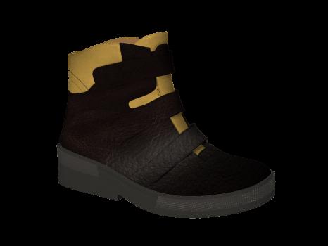 WP594 Brown Waterproof Leather Velcro