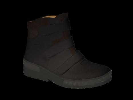 WP592 Black Waterproof Leather Velcro