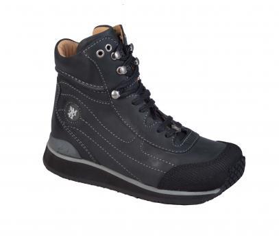 Touchdown  - R552/3 Black Wax Leather Lace