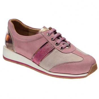 N325 Old Rose Nubuck Combi Lace