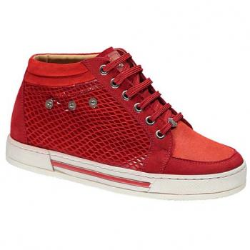 N1627 Red Nubuck Combi Lace
