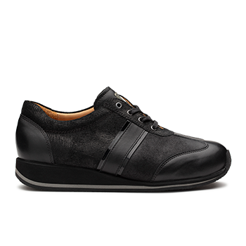 Dionisia  - L1602/11 Black Fantasy Leather Combi