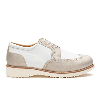 Barbara  - Y1620 White/silver Leather