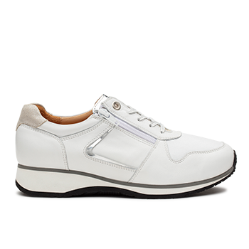 Jenny  - L1601/1 White Leather Combi