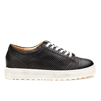 Kemberly  - L1672/3 Black Fantasy Leather Combi