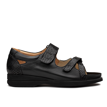 Theresa - L1602/7 Black Fantasy Leather Combi