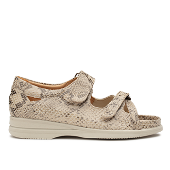 Theresa - S1814 Lizzard Beige Leather