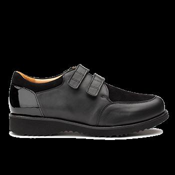Marguerite  - L1602 Black Leather Combi