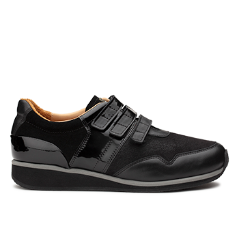 Penny  - L1602/12 Black Fantasy Leather Combi