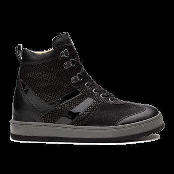 Annabel  - L1672/4 Black Fantasy Leather Combi