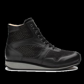 Mia  - L1602/10 Black Fantasy Leather Combi