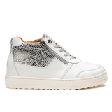 L1601/2 White Fantasy Leather Combi