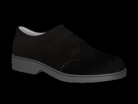 P402 Black Suede