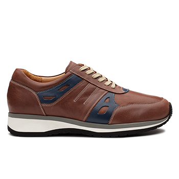 V1810/5 Cognac Leather Combi