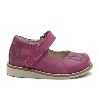 Butterfly  - R577 Waxed Leather Fuchsia