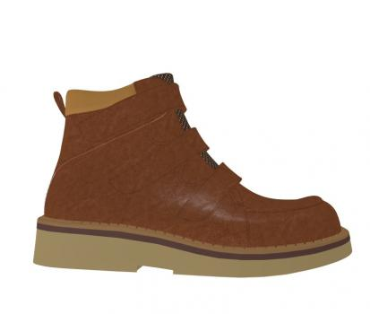 R1955/P407 Waxed Leather Brown Combi