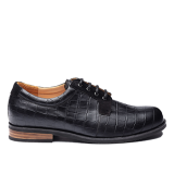 027 Black fantasy leather