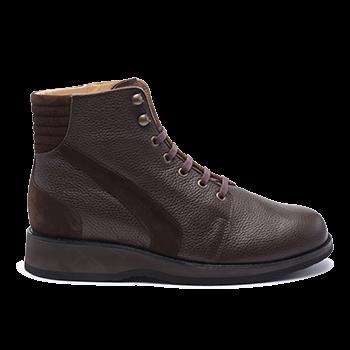 037 Brown grain leather